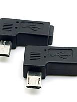 cy® vpravo otočení o 90 stupňů samice Mini USB k mužské Micro USB pro telefony / tablety