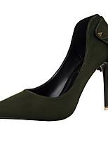 Women's Shoes Velvet Stiletto Heel Heels Heels Wedding / Dress Black / Green / Pink / Red / Gray / Burgundy
