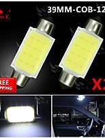 2x Festoon 39mm High Power COB SMD Light Dome Map Lamp Bulb 211-2 578 212-2