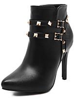 Scarpe Donna - Stivali - Formale / Casual - A punta / Stivali - A stiletto - Finta pelle - Nero