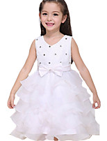 Girl's Pink / Red / White / Beige Dress , Ruffle Cotton / Polyester All Seasons