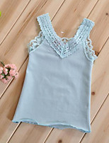 Girl's Blue / Pink / White Tank & Cami , Lace Cotton Summer