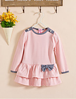 Girl's Casual/Daily Dress,Rayon Fall / Spring Black / Pink