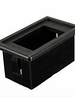 iztoss en enda svart plast vippströmbrytare panel bostäder switch hållare