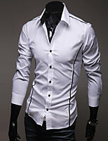 Men's cultivate one's morality personality edge shirt Leisure fashion long-sleeved shirt GESE4