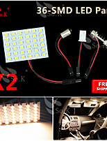 10X Super Warm White 3528 SMD 36LED Panel Festoon T10 BA9S RV Interior Dome Map LED Light