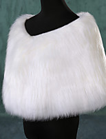Party/Evening Faux Fur Shrugs Sleeveless Fur Wraps