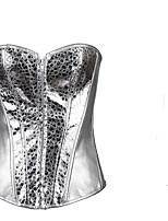 Damen Brustkorsett  -  Baumwoll-Mischungen Reißverschluss
