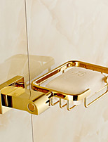 Gold-Plated Finish Brass Material  Soap Basket