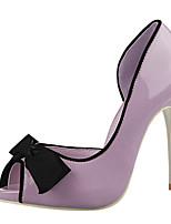 Women's Shoes PU Stiletto Heel Heels Sandals Casual Black / Purple / Red / Gray / Fuchsia / Nude
