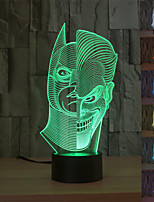 Visual 3D Two Face Mood Atmosphere LED Decoration USB Table Lamp Colorful Gift Night Light