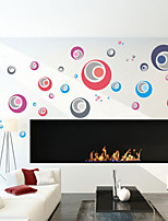 Wall Stickers Wall Decals Style Color Circle Waterproof Removable PVC Wall Stickers