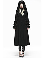 winter woman Lolita long fur coat with hoody LY-036