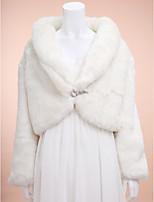 Wedding / Party/Evening Faux Fur Shrugs Long Sleeve Wedding  Wraps / Fur Coats