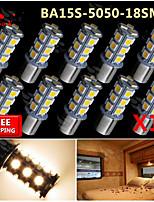 10x caldo ba15s bianche 1156 RV invertire 18 lampadine indicatori di direzione posteriori SMD dell'automobile del LED
