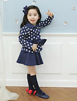 Girls' Casual/Daily Polka Dot Sets,Cotton Spring Fall Long Sleeve Clothing Set