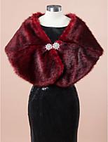 Wedding / Party/Evening Faux Fur Shawls Sleeveless Wedding  Wraps / Fur Wraps