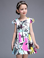 Girl's Multi-color Dress , Floral / Dresswear Cotton / Polyester All Seasons