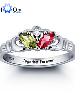 Personalized Personalized Ring 925 Sterling Silver Infinity Claddagh Ring Wedding Ring For Women