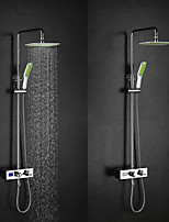 High Quality Brass Chrome 38  Thermostatic Smart Digital Display Water Flow Generate Electricity Shower Faucets
