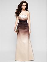 Formal Evening Dress - Multi-color Trumpet/Mermaid Strapless Floor-length Satin
