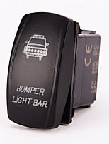 Iztoss Laser Backlit blue BUMPER LIGHT BAR 20 Amp LED Lights ON/OFF Rocker Switch