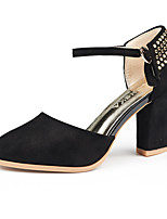 Women's Shoes Leatherette Chunky Heel Heels Heels Party & Evening / Dress / Casual Black / Pink / Red