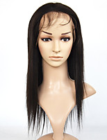 Brazilian Hair Lace Front Wigs Yaki Straight Lace Front Wigs Human Hair Wigs For  Women