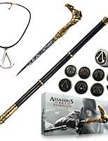 Assassin's Creed syndicaat riet zwaard cosplay accessoires (+ lichtmetalen ring badge ketting sleutel gesp 13pcs set)