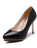 Women's Shoes PVC / Leatherette Stiletto Heel Heels Heels Wedding / Office & Career / Dress / Casual Black / Green