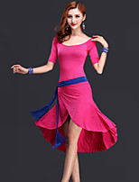 Belly Dance Dresses Women's Performance Rayon Draped 3 Pieces Black / Fuchsia / Red / Royal Blue