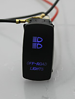 Iztoss 5Pin LASER off-road light Rocker Switch ON-OFF LED Light 20A 12V Blue with wires to install
