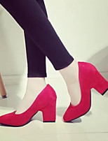 Women's Shoes Pumps Fashion Suede Sexy Chunky Heel Heels / Comfort / Square Toe Heels Party & Evening / Dress