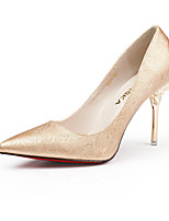 Women's Shoes Patent Leather Stiletto Heel Heels Heels Party & Evening / Dress / Casual White / Silver / Gold