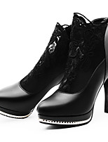 Women's Heels Fall Winter Gladiator Synthetic Office & Career Party & Evening Dress Casual Stiletto Heel Black