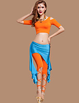 Belly Dance Outfits Women's Performance Spandex / Polyester Draped 3 Pieces 5 Colors