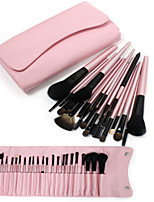 23pcs Professional Cosmetic Makeup Make up Brush Brushes Set Kit with Pink Bag Case