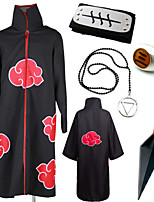 Inspired by Naruto Hidan Akatsuki Organization Cosplay Cloak Sets (5Pcs)