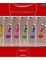 Sanlead Martell-Bottle PC With Rubber And Sand Liquid Back Case For Iphone6 Plus,6S Plus(Assorted Colors)