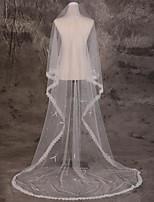 Wedding Veil One-tier Blusher Veils / Chapel Veils / Cathedral Veils Lace Applique Edge