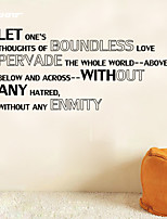 AWOO® New Wall Sticker Without ENMITY  Pattern Group On Behalf Of English customization