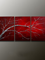 Hand-Painted Still Life Modern Oil Painting , Canvas Three Panels