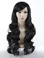 Sexy Women Long Natural Wave Hair Party Wig (Black)