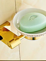 Gold-Plated Finish Brass Material Soap Dish