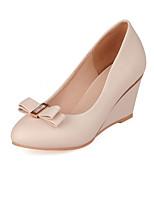 Women's Shoes Wedge Heel Heels / Round Toe Heels Dress Black / Pink / Almond