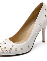 Women's Shoes Leatherette Stiletto Heel Pointed Toe Heels Dress Black / Pink / White