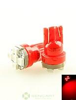 2 x rojo super t10 194 168 W5W 5x lateral del coche 3528 bombilla de la lámpara de la luz trasera de cuña dc12v