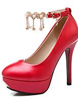Women's Shoes Fleece / Leatherette Stiletto Heel Heels / Platform Heels Wedding / Office & Career / Party & Evening