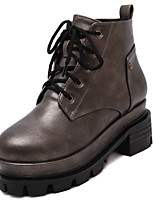 Women's Shoes Leatherette Flat Heel Combat Boots Boots Outdoor / Dress / Casual Black / Taupe