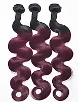 12inch ombre extension de cheveux 3pieces / lot 1b / 99j vague de corps cheveu humain tisse cheveux 100%